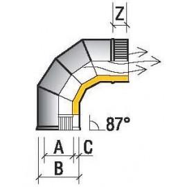 Отвод 87° 150/210 (430/430) 0,8мм  ТиС (оцинковка)