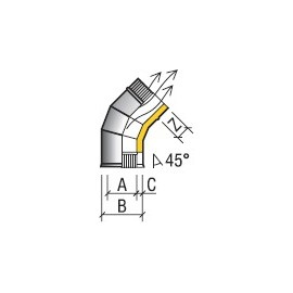 Отвод 45* 115/180 (430/430) 0,8мм  ТиС (нержавейка)
