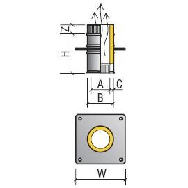Площадка монтажная термо 115/180 (430/430) 0,8 ТиС