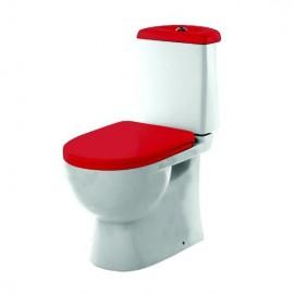 """Sanita Luxe Color Best Унитаз   красный с сиденьем """"микролифт"""""""