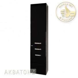 Шкаф-колонна АМЕРИНА подвесной Черный