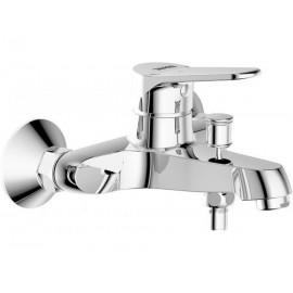 Смеситель для ванны Bravat Eco с душем короткий излив c душевым гарнитуром
