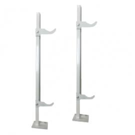 Кронштейн для чугунных и алюминиевых радиаторов усиленный 500 (640) мм белый