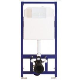 Berges Novum L1  Инсталляция для подвесного унитаза с  белой кнопкой