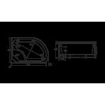 Поддон для душевой кабины ФИДЖИ   Размеры 1200 х 800 мм