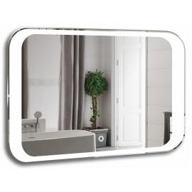 Зеркало Акварель Индиго 80 см с сенсорным выключателем