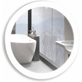 Зеркало Акварель Перла 77 см с сенсорным выключателем круглое