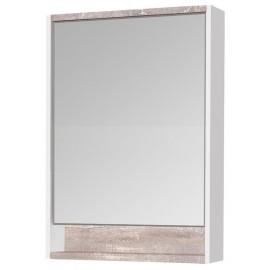 Акватон Капри 60 Зеркальный шкафчик с подсветкой цвет бетон пэйн