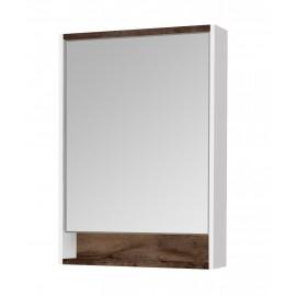 Акватон Капри 60 Зеркальный шкафчик с подсветкой цвет таксония тёмная
