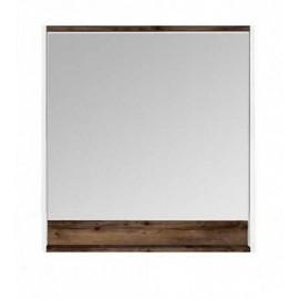 Акватон Капри 80 Зеркальный шкафчик с подсветкой цвет таксония тёмная
