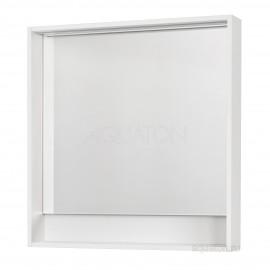 Акватон Капри 80 Зеркальный шкафчик с подсветкой
