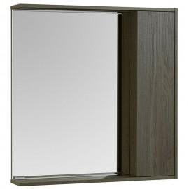 Акватон Стоун зеркальный шкаф цвет грецкий орех