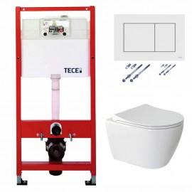 Tece Base инсталляция с унитазом и панелью смыва