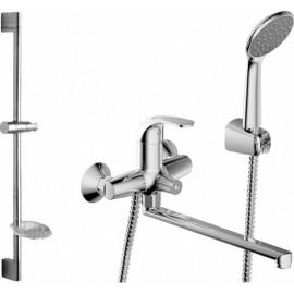 Промонабор Bravat Fit для ванны и душа с длинным изливом  и душевым комплектом