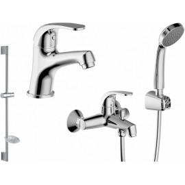 Промонабор Bravat Fit для ванны и душа с длинным изливом  и душевым комплектом и смесителем