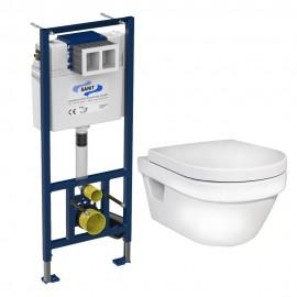 Sanit SET 5G84HR01 Hygienic Flush Подвесной унитаз с инсталляцией клавиша хром