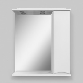 AM.PM Like Зеркало со шкафчиком и подсветкой 65 см (шкафчик справа)
