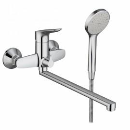 Damixa Origin Bit, смеситель для ванны/душа с универсальным изливом 350 мм и ручным душем