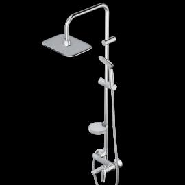 Damixa Palace Evo, душ система cо смесителем и изливом: верх. душ 260*190, ручн. душ d 100 мм, 1