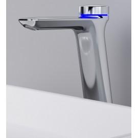 AM.PM TouchReel высокий электронный смеситель для умывальника с донным клапаном
