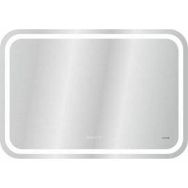 Зеркало Cersanit DESIGN Pro 050 80х55 с часами и антизапотеванием, хол и тепл свет