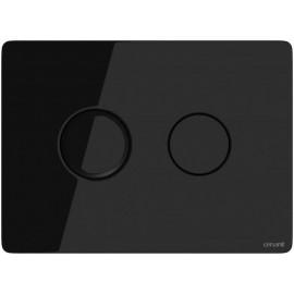 Кнопка ACCENTO для AQUA 50 пневматическая стекло черный(9322)