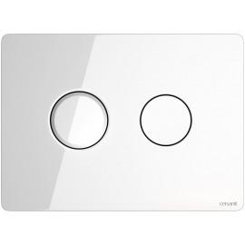 Кнопка ACCENTO для AQUA 50 пневматическая стекло белый(9323)